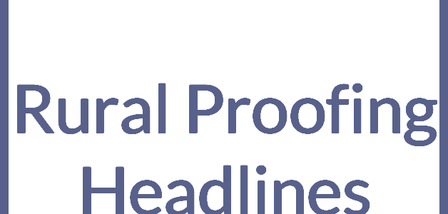 Rural Proofing Headlines